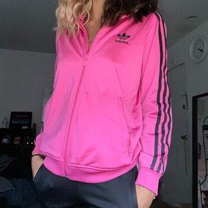 Pink adidas track suit jacket